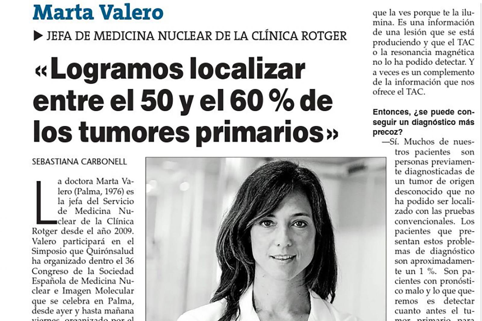 Logramos localizar entre el 50 y el 60% de los tumores primarios.