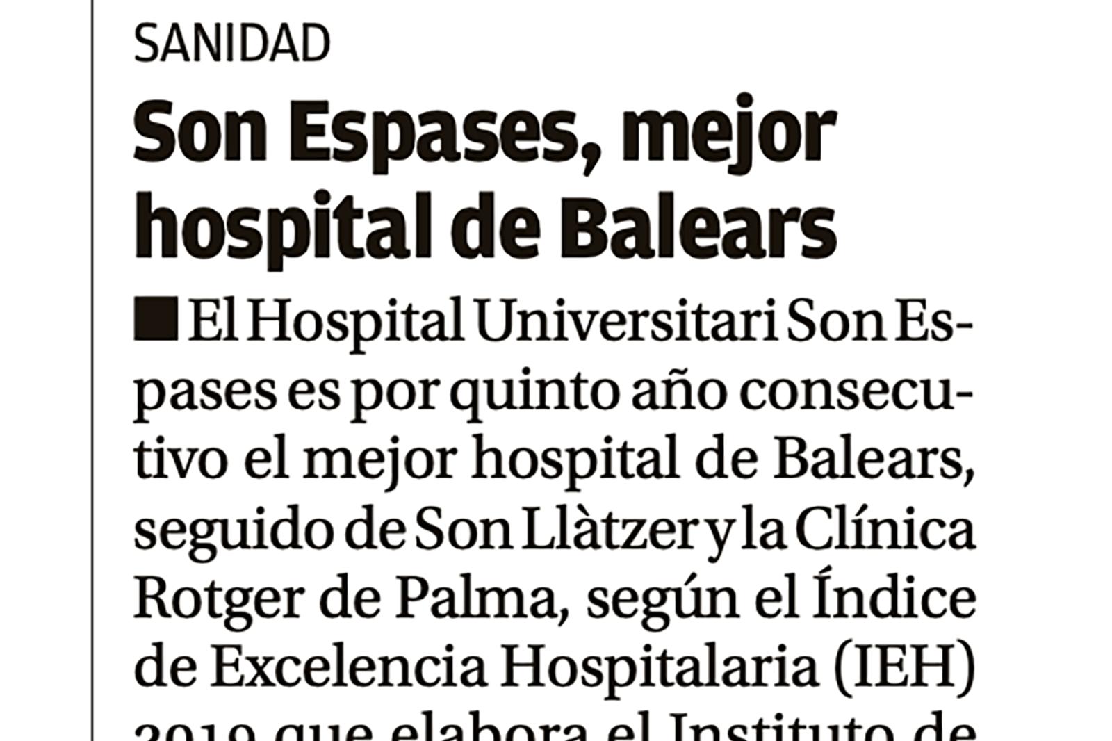 Clínica Rotger-Mejor centro privado de Baleares