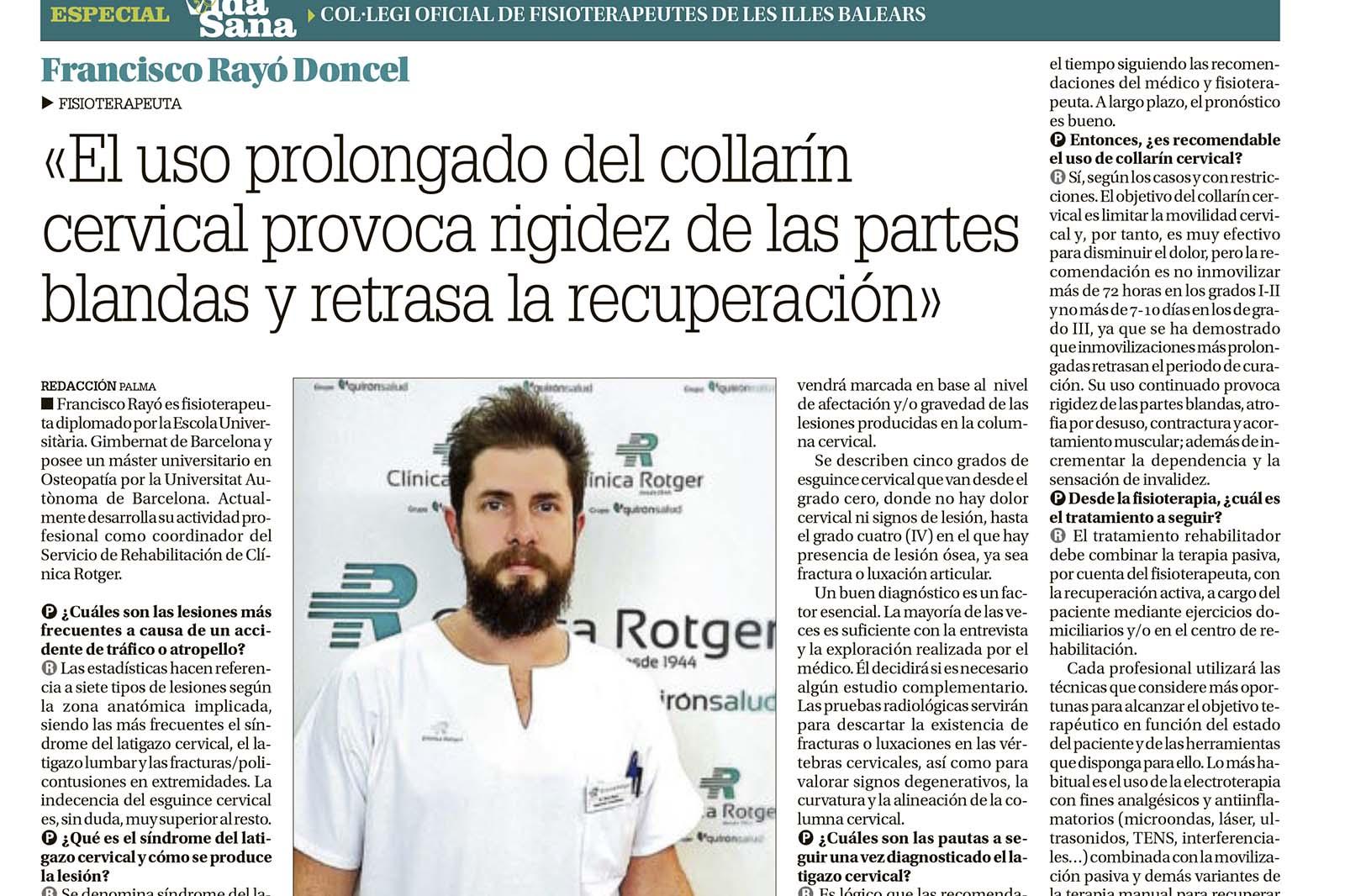 Entrevista Francisco Rayo-Rehabilitación-Clínica-Rotger-Hospital-Mallorca