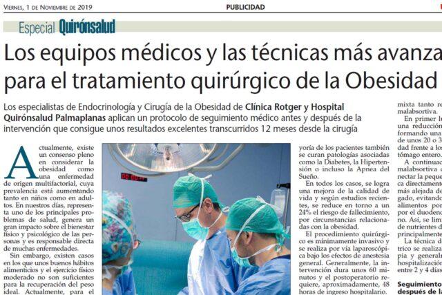Ultima-Hora-Tratamiento-Quirúrgico-de-la-obesidad-Clínica-Rotger-Hospital-Mallorca