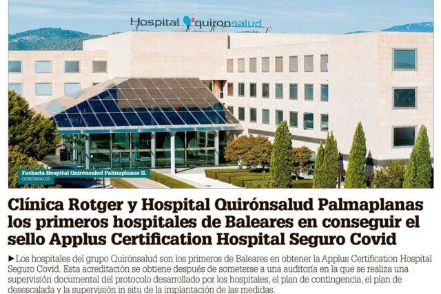 DM-Applus-Certification-Hospital-Seguro-Covid-Clínica-Rotger-Hospital-Mallorca