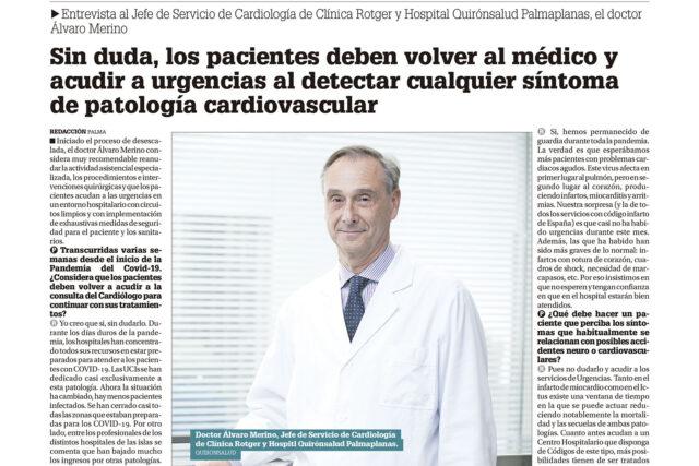 Diario-Mallorca-Entrevista Dr-Alvaro-Merino