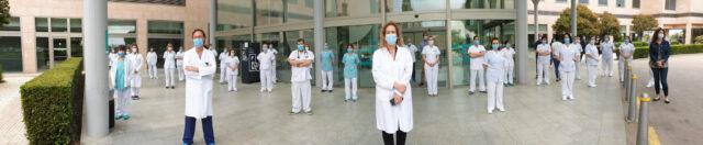Hospital Quirónsalud Palmaplanas - Minuto de Silencio por los sanitarios fallecidos por el Covid-19