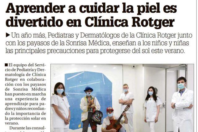 DM - Cuidar la piel en Clinica Rotger 2020 Pediatria + Derma + Sonrisa Medica
