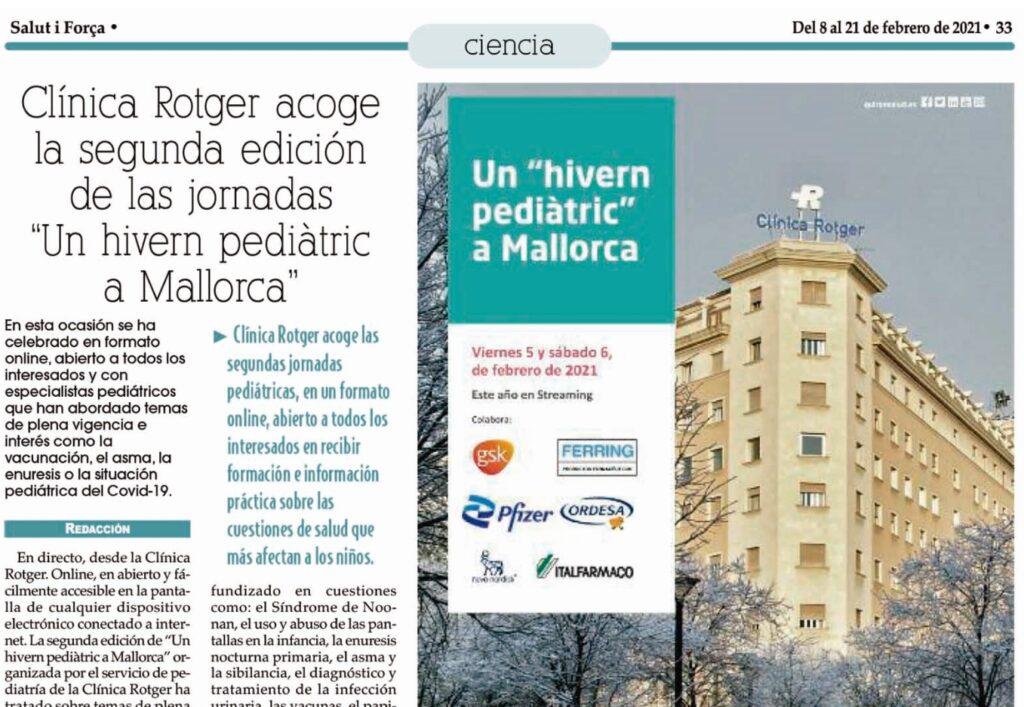 "Clínica Rotger acoge la segunda edición de las jornadas ""Un hivern pediàtric a Mallorca"""
