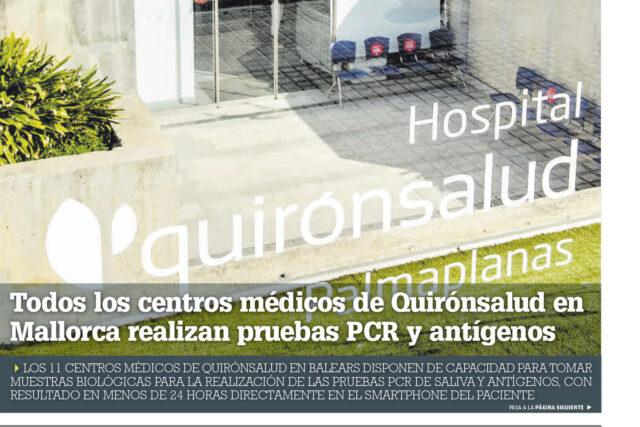 Diario-de-Mallorca-Vida-Sana-Centros-PCR-de-Quirónsalud-en-Baleares