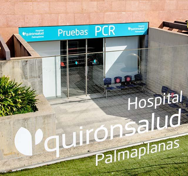"""Espacio PCR"""" del Hospital Quirónsalud Palmaplanas."""