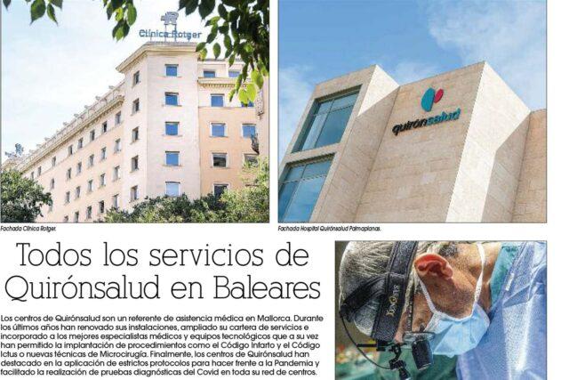 Todos los servicios de Quirónsalud en Baleares